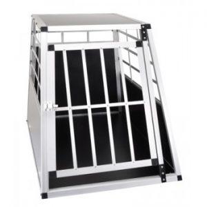 cage de transport pour chien en aluminium